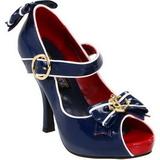 blå 11,5 cm ANCHOR-22 høye damesko med hæl