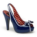 blå 11,5 cm BETTIE-05 høye damesko med hæl
