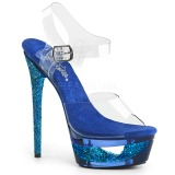 blå 16,5 cm ECLIPSE-608GT sandaletter med stiletthæl