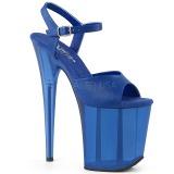 blå 18 cm FLAMINGO-809T akryl platå høye hæler dame