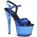 blå 18 cm SKY-309MT akryl platå høyhælte sandaler