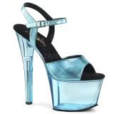 blå 18 cm SKY-309MT2 akryl platå høyhælte sandaler