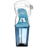 blå 20 cm FLAMINGO-808T akryl platå høyhælte sandaler