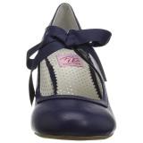 blå 6,5 cm WIGGLE-32 pinup pumps sko med blokkhæl