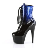 blå glitter 18 cm ADORE-1020OMB pole dancing ankelstøvletter