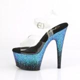 blå glitter 18 cm ADORE-708SS pole dancing sko