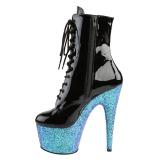 blå glitter 18 cm Pleaser ADORE-1020LG pole dancing ankelstøvletter