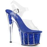 blå glitter 18 cm Pleaser ADORE-708G pole dancing sko