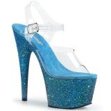 blå glitter 18 cm Pleaser ADORE-708LG pole dancing sko