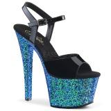 blå glitter 18 cm Pleaser SKY-309LG pole dancing sko
