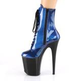 blå glitter 20 cm FLAMINGO-1020SHG høyhælte ankelstøvletter - pole dance hæler