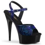 blå lakk 15 cm DELIGHT-609SP pleaser platåsandaler for kvinner
