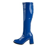blå lakk 7,5 cm Funtasma GOGO-300 høye støvler dame