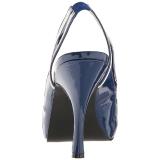 blå lakklær 11,5 cm PINUP-10 store størrelser sandaler dame