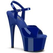 blå platå 18 cm ADORE-709 pleaser høye hæler for kvinner