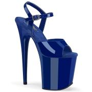 blå platå 20 cm FLAMINGO-809 pleaser høye hæler for kvinner