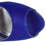 blå strass 13 cm LOLITA-08 høye pumps fest sko med hæl