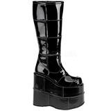 blank 18 cm STACK-301 platå gotisk støvler til menn