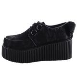 blondestoffer CREEPER-212 platå creepers sko til kvinners