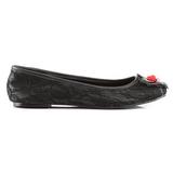 blondestoffer STAR-25 gothic ballerinasko med flate hæl