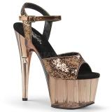 bronse 18 cm ADORE-710GT glitter platå høye hæler dame