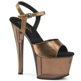 bronse 18 cm SKY-309MT platå høyhælte sandaler sko
