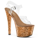bronse glitter 18 cm Pleaser SKY-308LG pole dancing sko