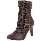 brun 10,5 cm TESLA-106 steampunk ankelstøvler dame
