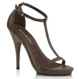 brun 12,5 cm Fabulicious POISE-526 dame sandaler med hæl