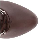 brun kunstlær 12,5 cm EVE-106 store størrelser ankelstøvletter dame