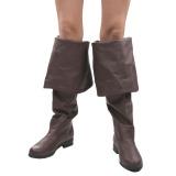 brun kunstlær 4 cm MAVERICK-2045 lårhøye støvler til menn