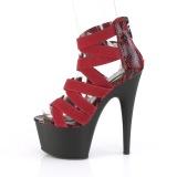burgunder elastisk band 18 cm ADORE-748SP pleaser sko med hæler til kvinner
