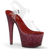 burgunder glitter 18 cm Pleaser ADORE-708HMG pole dancing sko