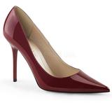 burgunder lakkert 10 cm CLASSIQUE-20 dame pumps sko stiletthæl