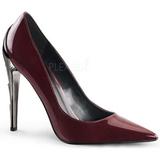 burgunder lakkert 11,5 cm VOLTAGE-01 klassiske pumps sko til dame