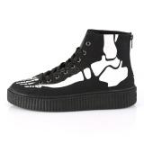 canvas 4 cm SNEEKER-252 sneakers creepers sko til menn