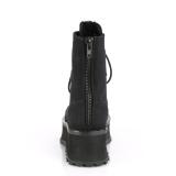 canvas GRAVEDIGGER-10 stål tå cap ankelstøvletter - demonia militærstøvler