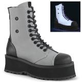 canvas GRAVEDIGGER-102 stål tå cap ankelstøvletter - demonia militærstøvler