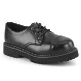 ekte skinn RIOT-03 demonia punk sko - unisex stål tå cap sko