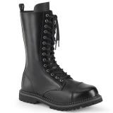 ekte skinn RIOT-14 stål tå cap støvler - demonia militærstøvler