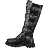 ekte skinn RIOT-18BK stål tå cap støvler - demonia militærstøvler