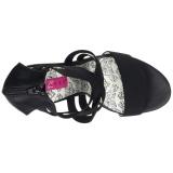 elastisk band 14,5 cm Burlesque TEEZE-47W high heels for brede føtter til menn