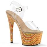 flerfarget 18 cm ADORE-708JB platå høye hæler sko