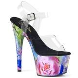 floral mønster 18 cm ADORE-708MRP platå høye hæler sko