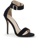 fløyel 13 cm Pleaser AMUSE-10 dame sandaler med hæl