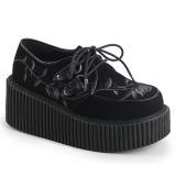 fløyel 7,5 cm CREEPER-219 dame creepers sko tykke såler