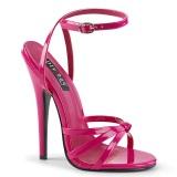 fuchsia 15 cm DOMINA-108 fetish sandaler med stiletthæler