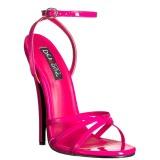 fuchsia 15 cm DOMINA-108 sko med høye hæler for menn