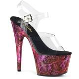 fuchsia 18 cm ADORE-708SP hologram platå høye hæler dame