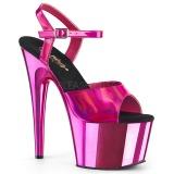 fuchsia 18 cm ADORE-709HGCH hologram platå høye hæler dame